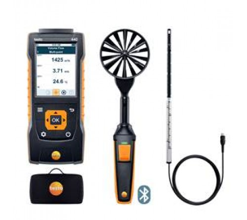 testo 440 Bluetooth®'lu Hava Hızı ComboSet 1