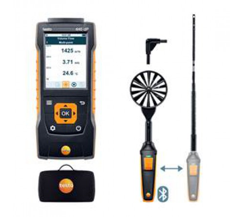 testo 440 delta P Bluetooth®'lu Hava Hızı ComboSet 1