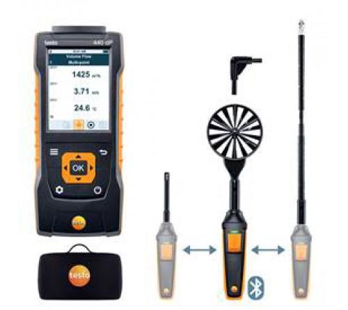 testo 440 delta P Bluetooth®'lu Hava Hızı ComboSet 2