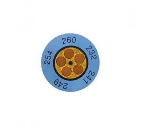 Testo yuvarlak sıcaklık etiketleri (+60 ... +82 °C)